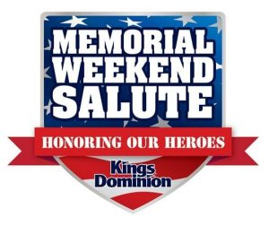 Kings Dominion Memorial Weekend Salute