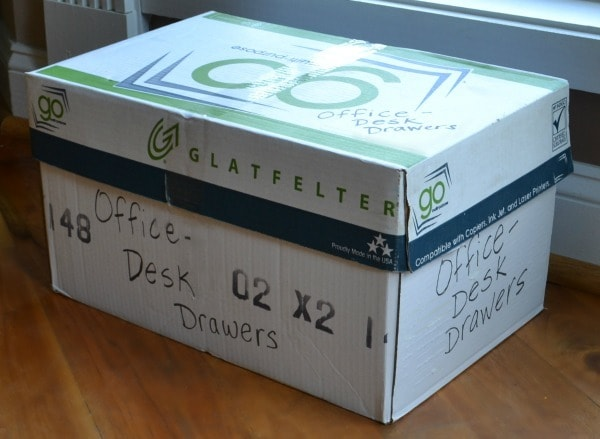 Label boxes on multiple sides with details about where the enclosed items belong