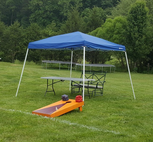 Remember to provide a shaded area near outdoor games and activities