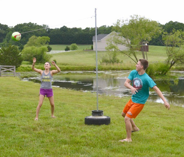 Tether ball is a simple game that anyone can play and requires little equipment.