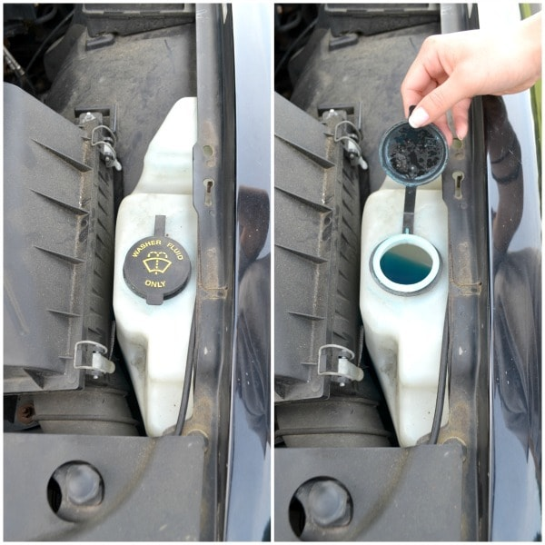 Check windshield wiper fluid each month while checking other fluids