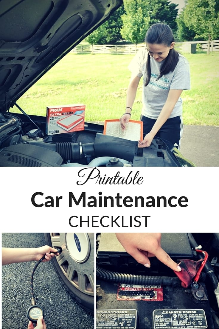 Print & keep this car maintenance checklist in your vehicle to make sure you perform regular maintenance to extend the life of your vehicle. #carmaintenance #checklist #freeprintable via @wondermomwannab