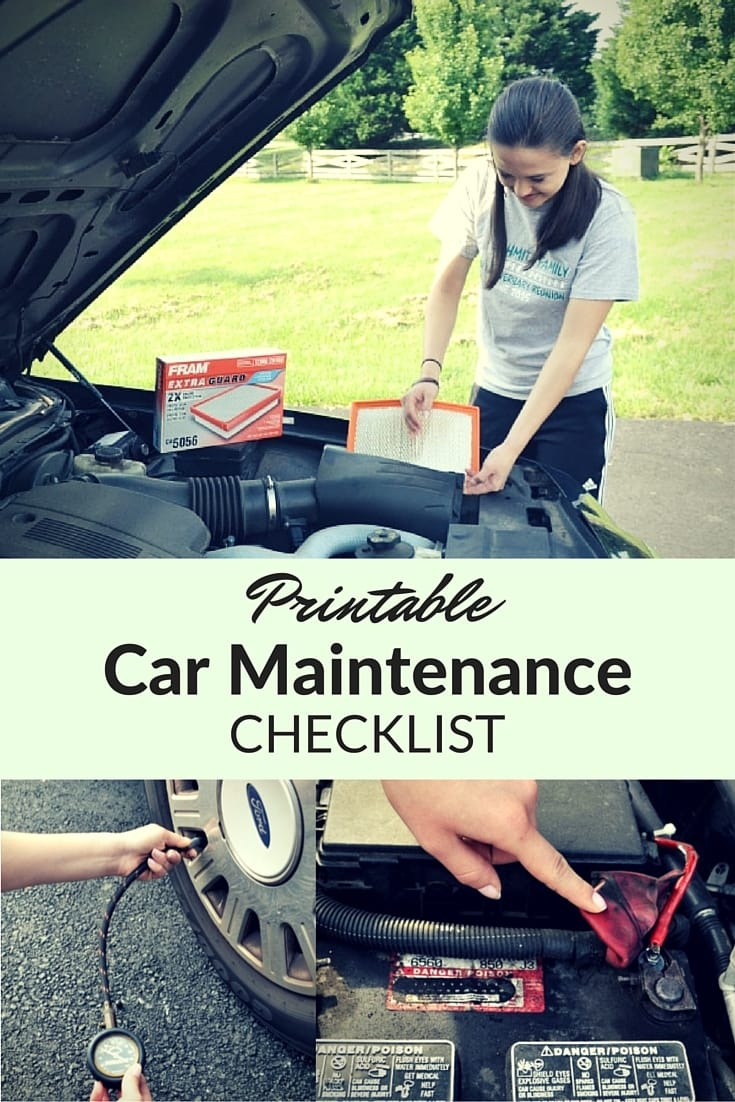 Printable car maintenance checklist to keep your vehicle running reliably longer