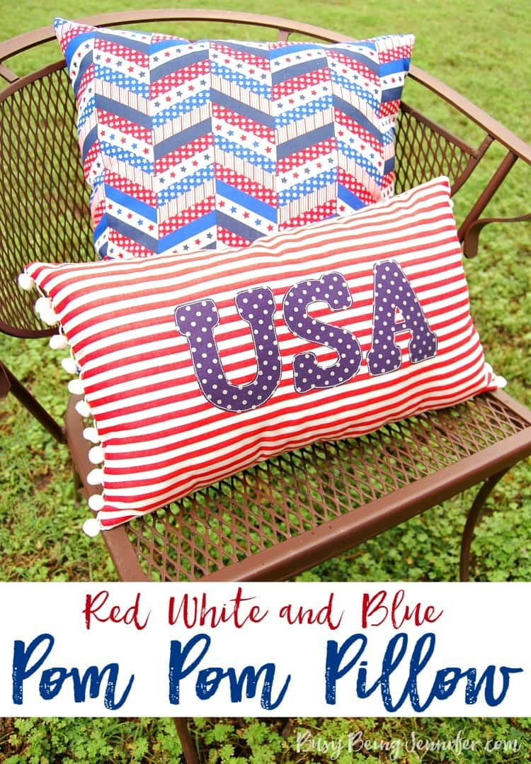 Red-White-and-Blue-Pom-Pom-Pillow-BusyBeingJennifercom