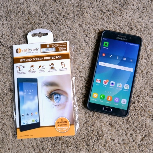 Reticare eye and screen protectors prevent eye damage AND damage to your smartphone screen