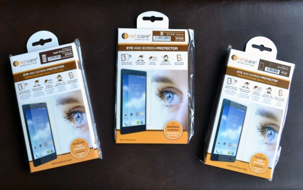 Reticare eye protectors for smartphones help protect eyes from high energy light