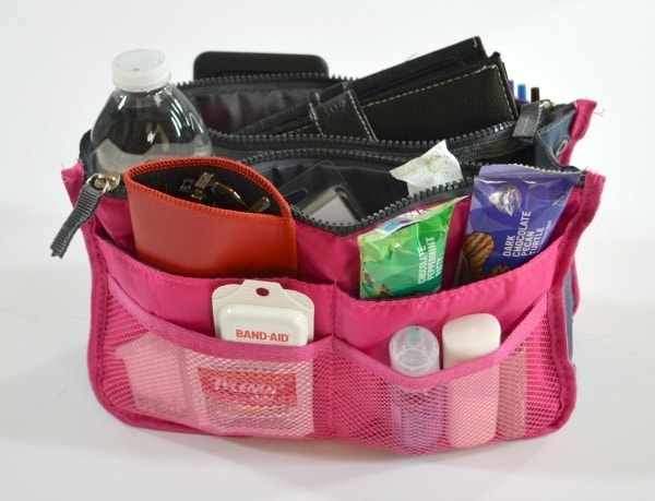 All of my purse essentials fit nicely in this organizer pouch