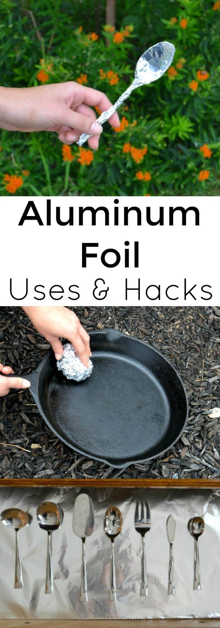 Did you know that you can use aluminum foil for many different things? Here's a list of aluminum foil uses and life hacks that you might not know. #aluminumfoil #lifehacks #householdtips #WhoKnewTip via @wondermomwannab