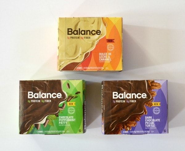 Balance bars come in a variety of delicious flavors and are the perfect snack to keep in your purse to satisfy cravings