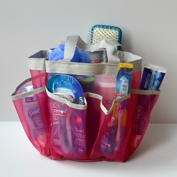 best high school graduation gift idea - hygiene supplies in a shower caddy