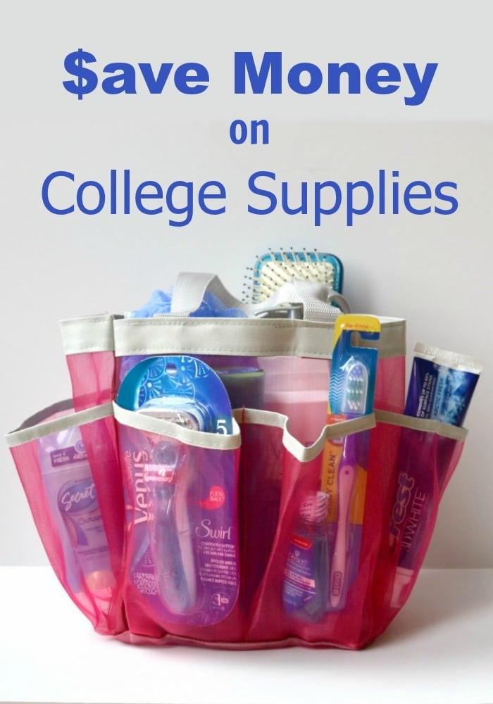 Back to school shopping can be expensive, especially if you're sending a kid to college. Here are some ways to save money on college supplies. #college #collegesupplies #savemoney #moneysavingtips via @wondermomwannab