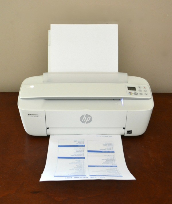 The HP DeskJet 3752 in action
