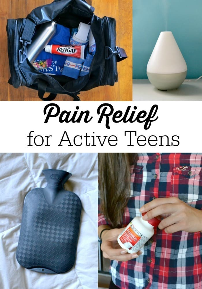 We want our kids to be active, but that often means aches and pains. These pain relief tips for active teens will help!