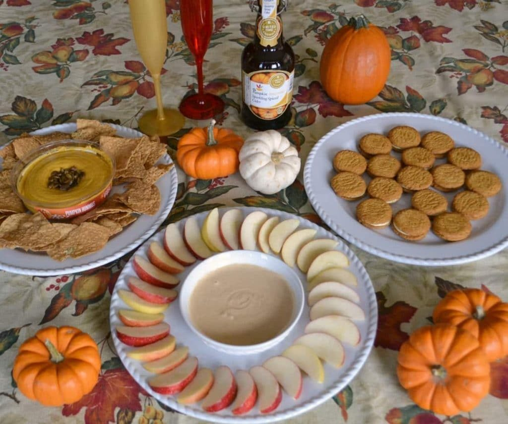 This pumpkin-themed fall party was easy to throw together with some of the fall limited edition items I found at Giant.