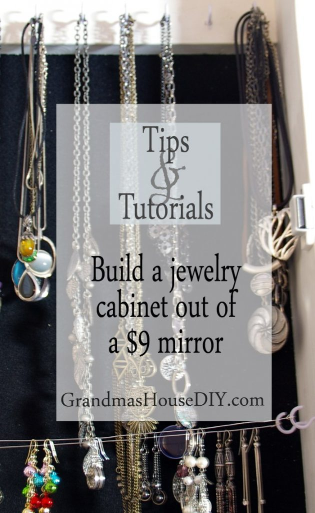 How to build a jewelry cabinet out of a mirror