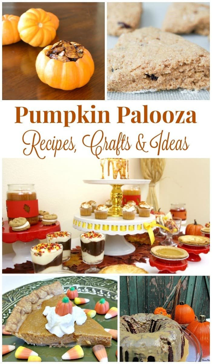 Pumpkin lovers can enjoy a pumpkin palooza with this huge collection of pumpkin-themed recipes, crafts and other fun ideas. #pumpkin #recipes #crafts via @wondermomwannab