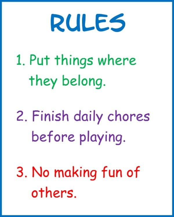 three rules on a graphic