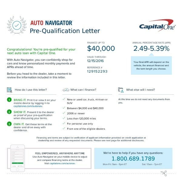 Capital One Pre Qualify >> How To Get The Best Deal On A New Car