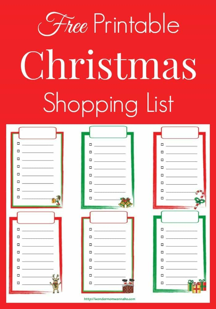 Captivating Wondermom Wannabe Within Free Printable Christmas Lists