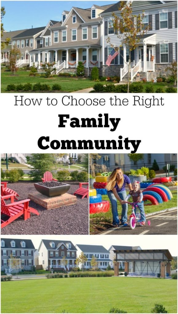 a collage of a community and some features within it with title text reading How to Choose the Right Family Community