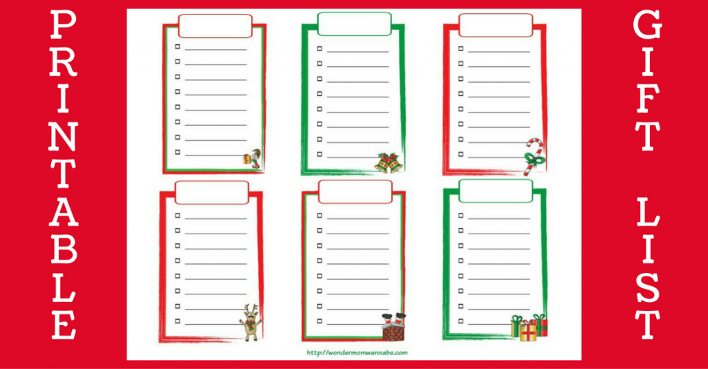 photograph regarding Christmas Gifts List Printable called Totally free Printable Xmas Buying Checklist