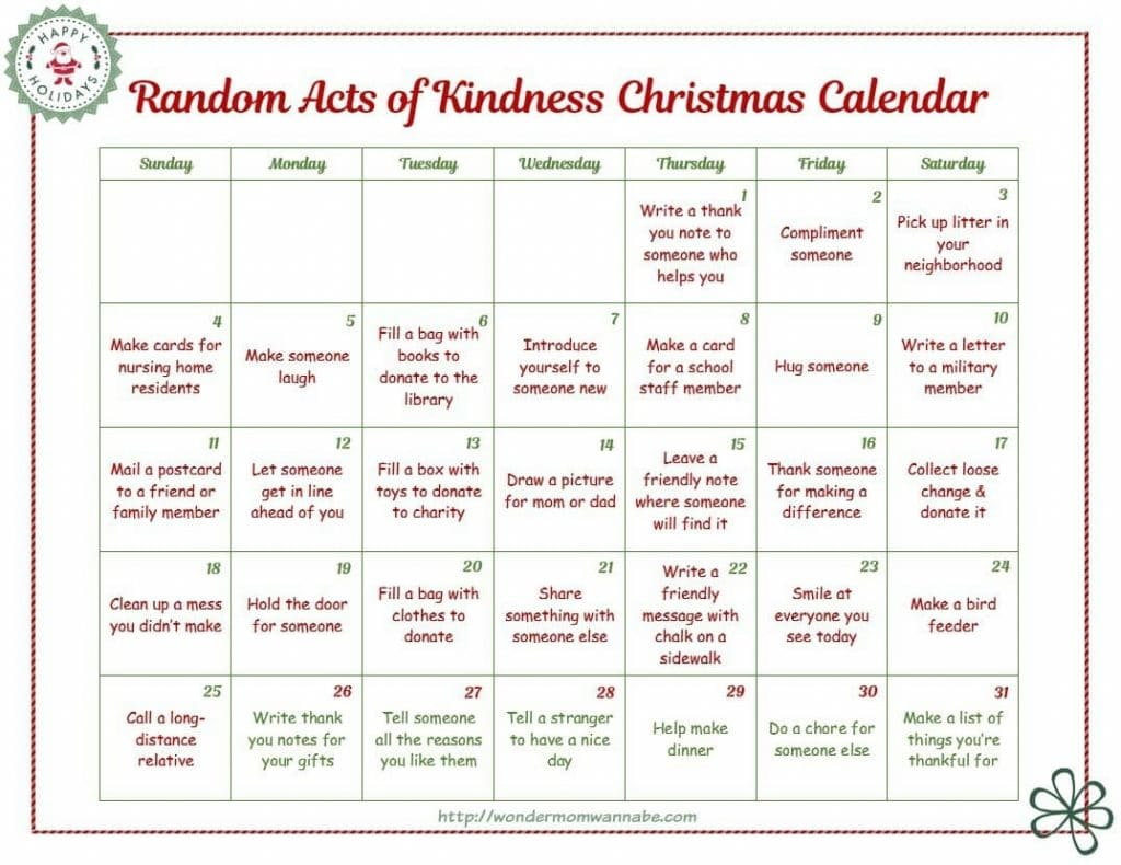 printable random-acts-of-kindness-calendar