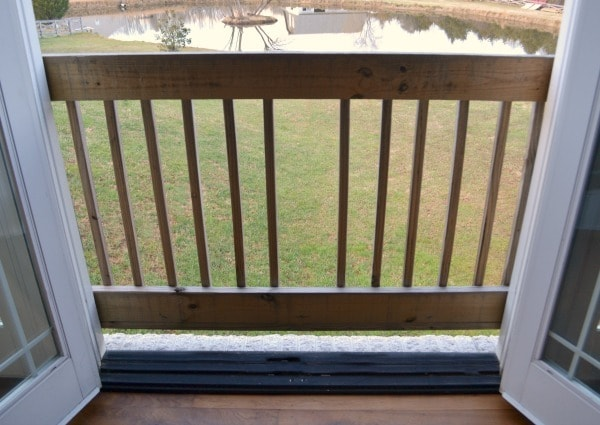 a home deck looking out to the backyard