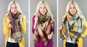 Fashion Friday – HOT DEAL on Plaid Blanket Scarves