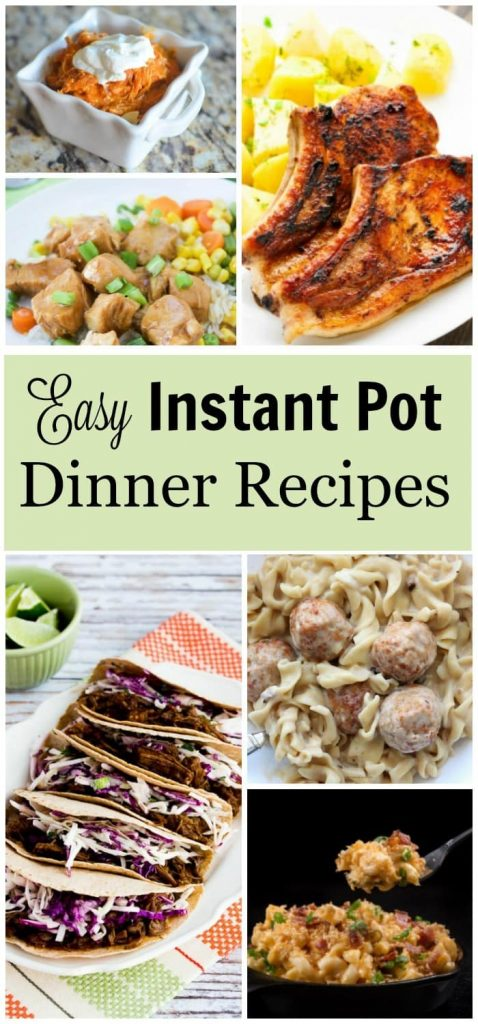 Got an Instant Pot but don't have any recipes? Here are some great easy dinner recipes I found! #instantpot #pressurecooker #easydinnerrecipes #recipes
