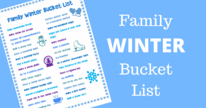 Family Winter Bucket List Ideas