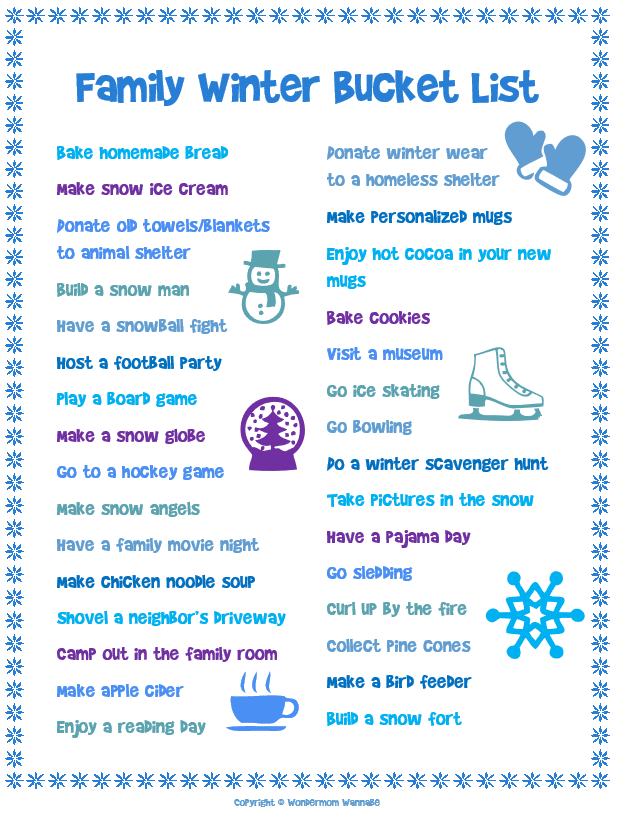 family-winter-bucket-list printable