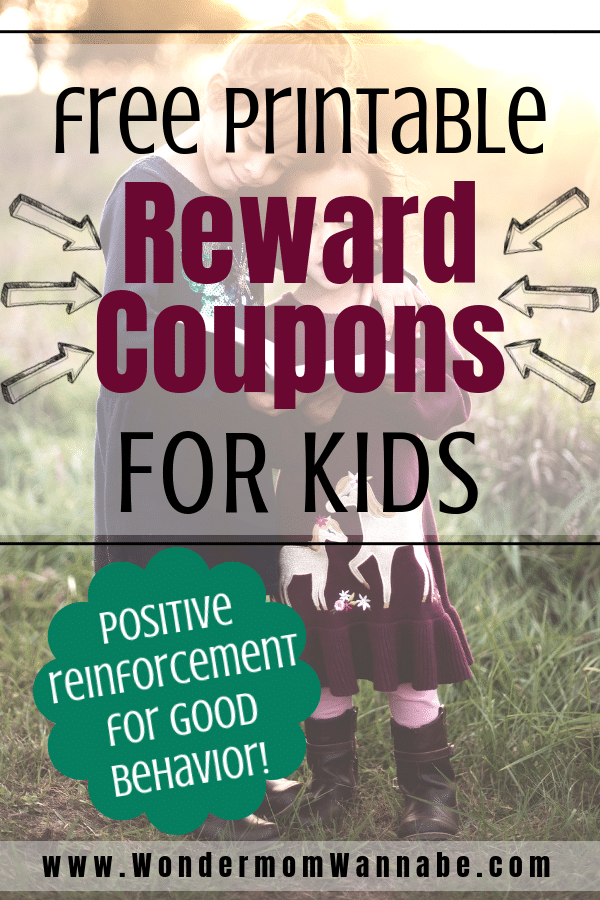 These printable reward coupons for kids are an easy and fun way to provide positive reinforcement for your child's good behavior. #parenting #positivereinforcement #reward #printables via @wondermomwannab