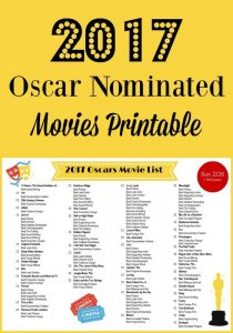 2017 Oscar Nominated Movies List