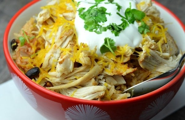chicken taco in a bowl