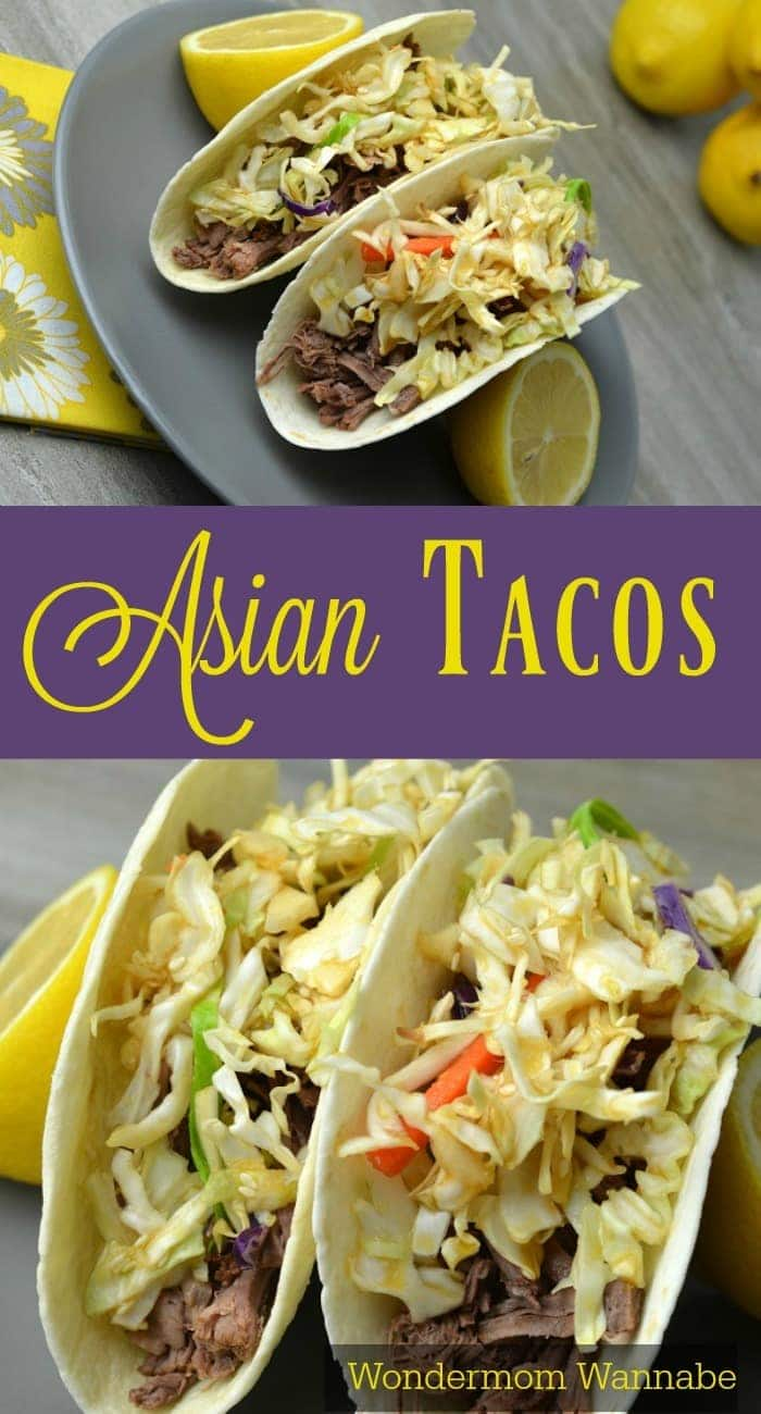 These Asian Tacos were the perfect recipe to change up our Taco Tuesdays! They're so incredibly easy to make and the kids love them!