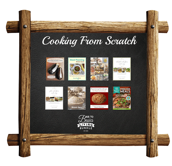 a collage of products available in the Cooking From scratch section of the Back to basics living bundle