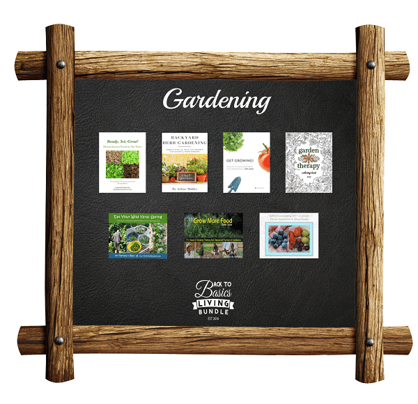 a collage of products available in the Gardening section of the Back to basics living bundle
