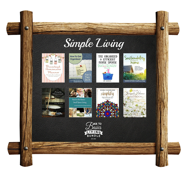 a collage of products available in the Simple Living section of the Back to basics living bundle