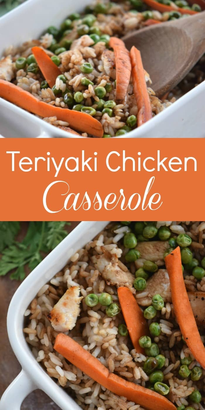 This teriyaki chicken casserole is perfect for those nights when you're craving Chinese food but don't want to stand over the stove making stir-fry. So yummy!