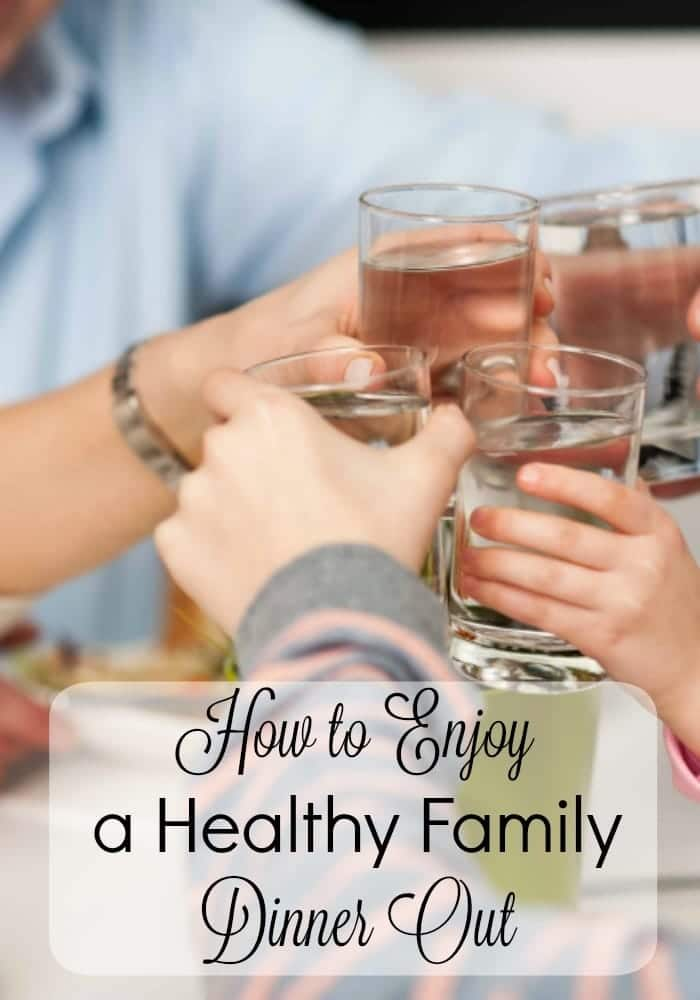 We love to eat out as a family once in awhile as a treat. These are such great tips for enjoying a healthy family dinner at a restaurant.