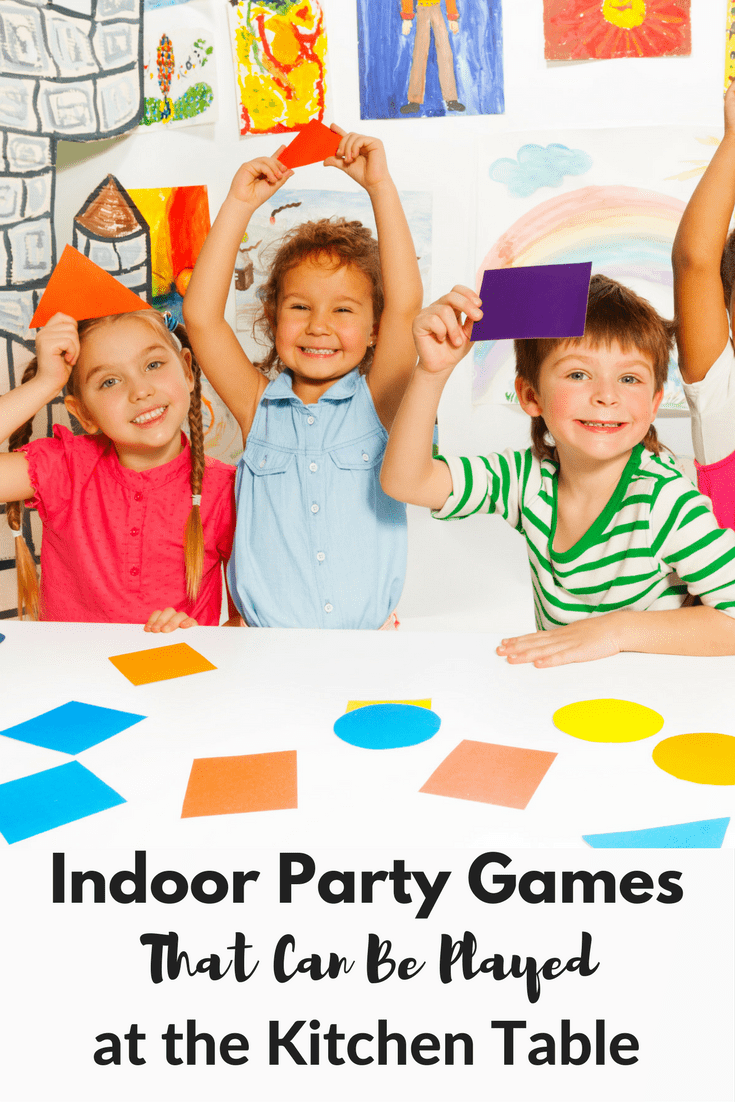 Kitchen Table Indoor Party Games