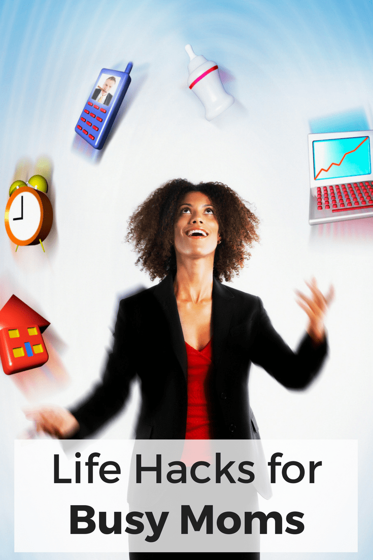 Mom life is short on time and full of things to do. Try these life hacks for busy moms to get more done in less time and with less effort. #momlife #lifehacks #busymom #parentingtips via @wondermomwannab