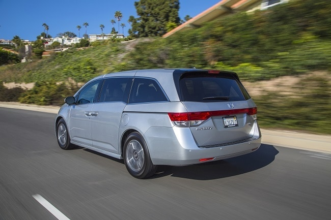 2017 Honda Odyssey driving on a freeway
