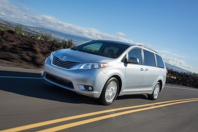 2017 Toyota Sienna driving on a road