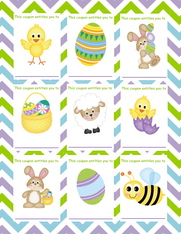 Easter Coupons (Blank)