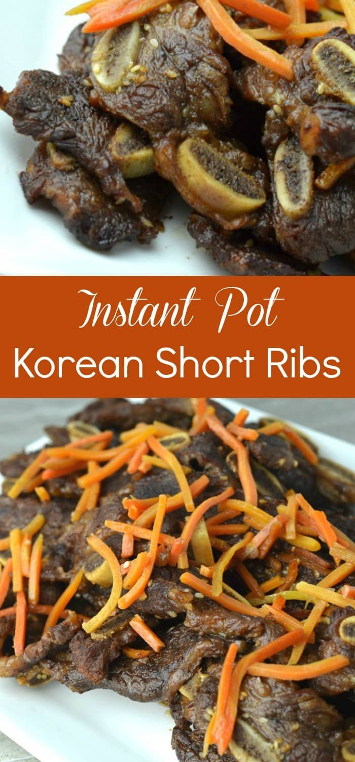 These Instant Pot Korean Short Ribs were so yummy! Even the kids gobbled them up. I can't believe how easy they were to make!