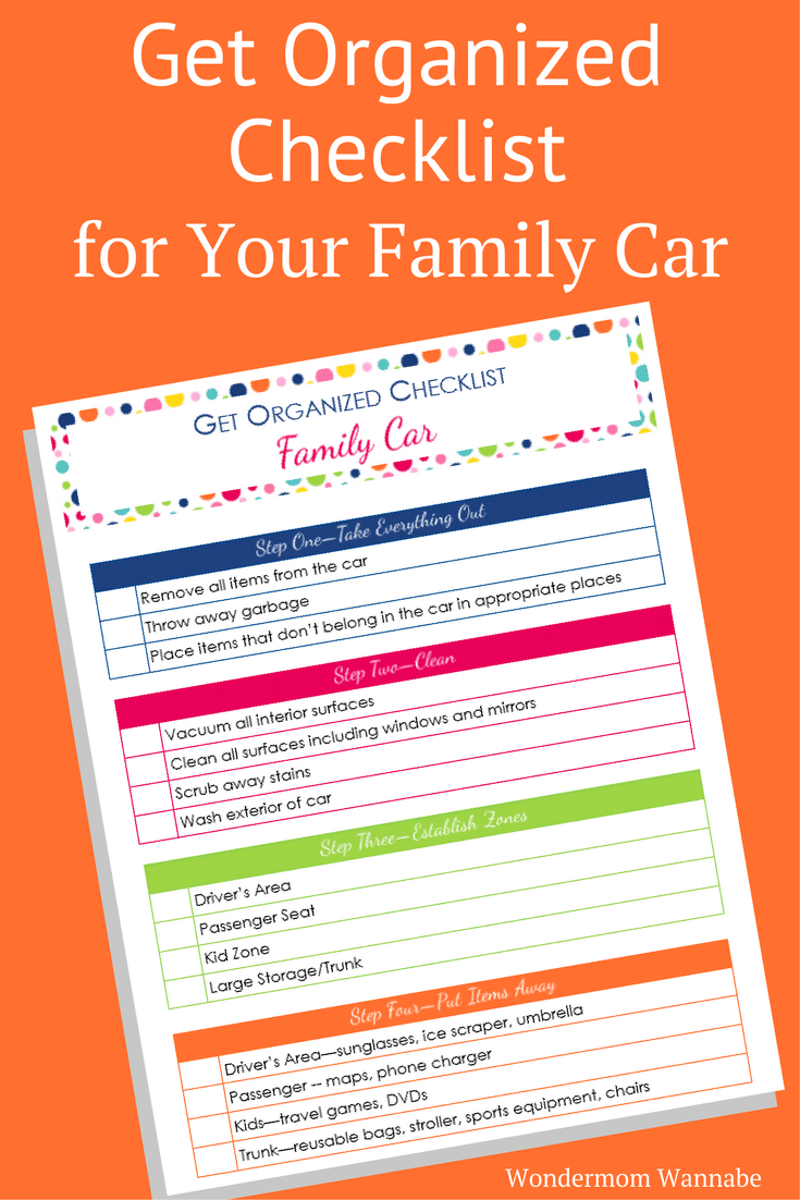 My family car is my second home since we spend so much time in it! This get organized checklist for your car is perfect for me since it takes into consideration how I use our family car.