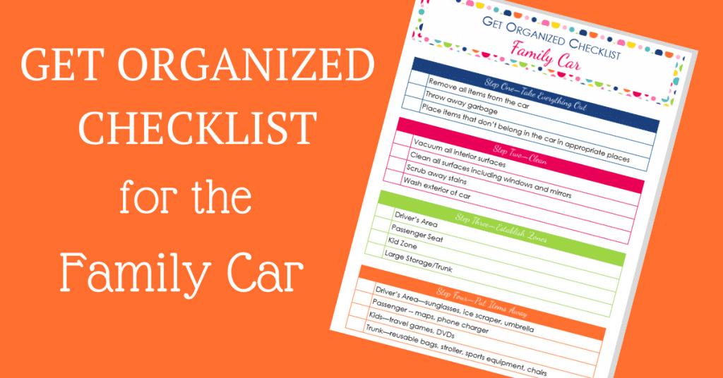 get organized checklist for your car. Black Bedroom Furniture Sets. Home Design Ideas