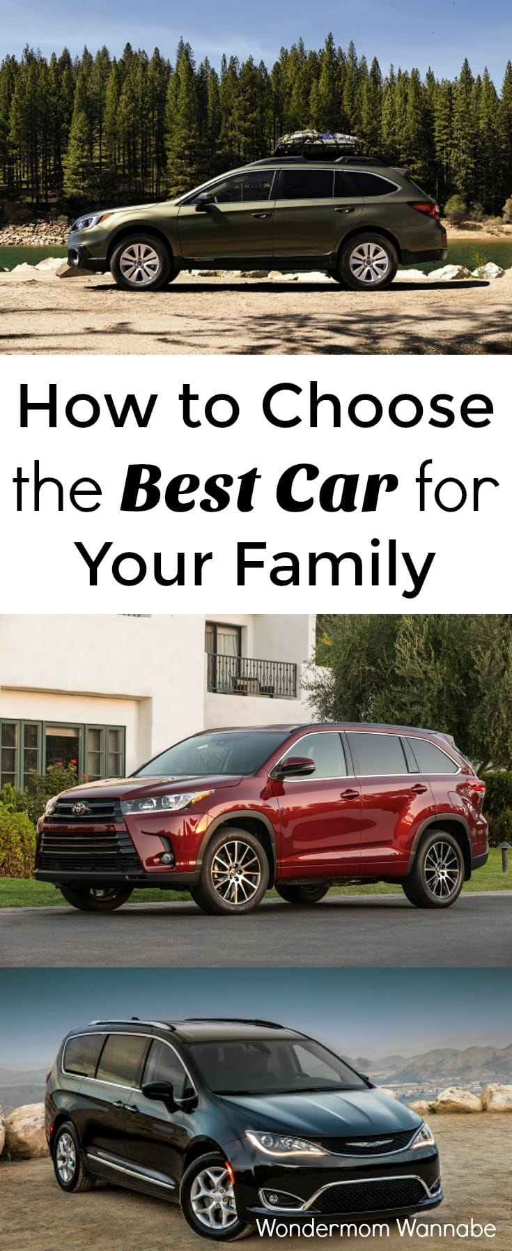 I'm so glad I don't have to do research on thousands of cars to find our new family car. Kelley Blue Book's list of the 12 Best Family Cars narrows the list to just 12. I love that they used the same criteria that's most important to me as a mom.