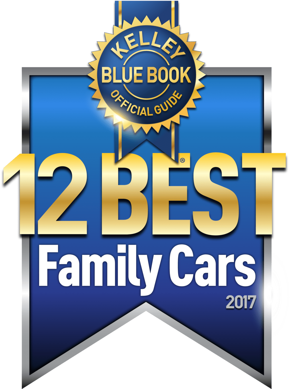 banner for Kelley Blue Book Official Guide 12 Best Family Cars 2017